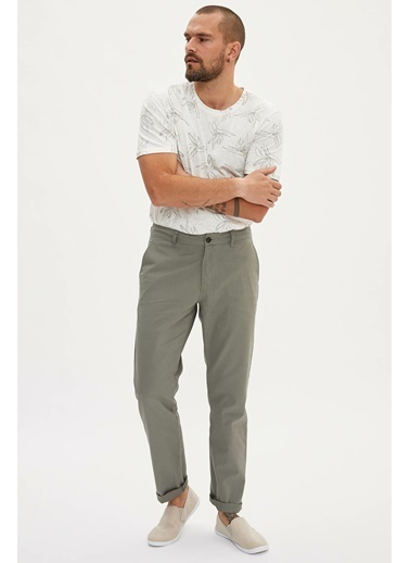DeFacto Casual Relax Fit Chino Pantolon Haki